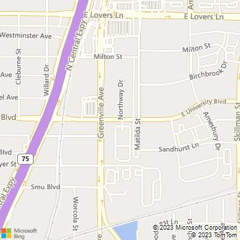 Map - Lincoln On University Apartments - 5750 E University Blvd - Dallas, TX, 75206