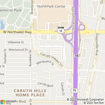 Map - Caruth at Lincoln Park Apartments - 5445 Caruth Haven Lane - Dallas, TX, 75225