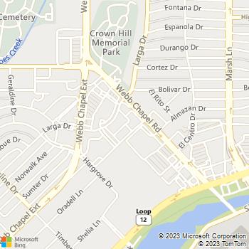 Map - Chapel Oaks Apartments - 9494 Larga Dr - Dallas, TX, 75220