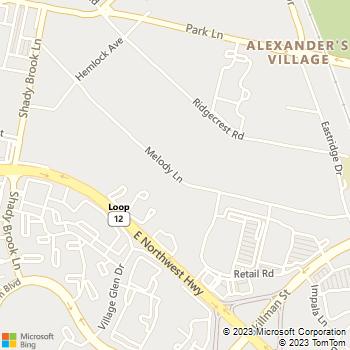 Map - Biltmore Apartments - 6251 Melody Ln - Dallas, TX, 75231