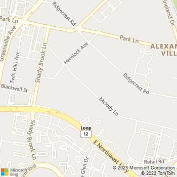 Map - Princeton Court - 6121 Melody Ln - Dallas, TX, 75231