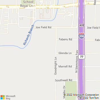 Map - J.Z. Plumbing - 11227 Goodnight Ln. - Dallas, TX, 75229