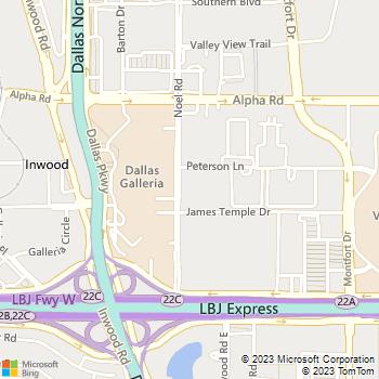 Map - Verona - 13330 Noel Road - Dallas, TX, 75240