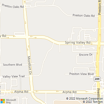 Map - The Astoria - 5636 Spring Valley Rd - Dallas, TX, 75240