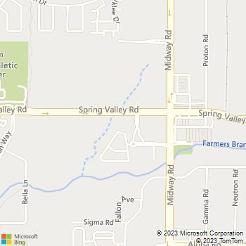 Map - Chateau de Ville - 4040 Spring Valley Rd - Dallas, TX, 75244