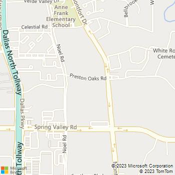 Map - The Courts at Preston Oaks - 5400 Preston Oaks Dr - Dallas, TX, 75254