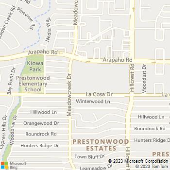 Map - The Brighton - 5426 Meadowcreek Drive - Dallas, TX, 75248
