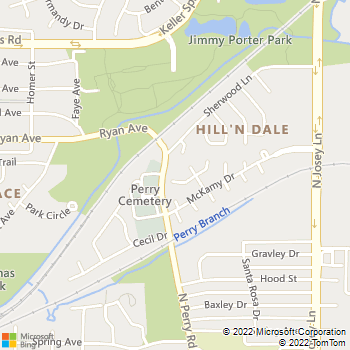 Map - Gibson Plumbing - 1805 High Meadow Cove - Carrollton, TX, 75006