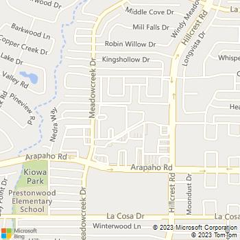 Map - Meadow Crest - 5200 Meadow Creek Drive - Dallas, TX, 75248
