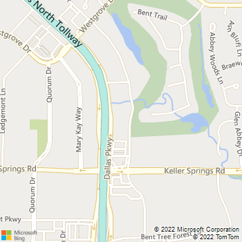 Map - Kensington Square - 15935 Knoll Trail Dr - Dallas, TX, 75248