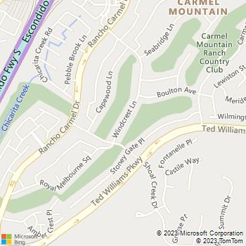 Map - Carmel Terrace - 11540 Windcrest Ln - San Diego, CA, 92128