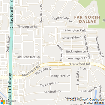 Map - Rancho Palisades - 4849 Frankford Rd - Dallas, TX, 75287
