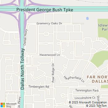 Map - Versailles Apartments - 4900 Pear Ridge Dr - Dallas, TX, 75287
