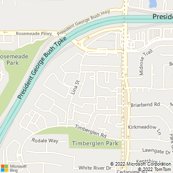Map - Dana Point Apartments - 18800 Lina St - Dallas, TX, 75287