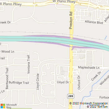 Map - Preston Village Apartments - 18909 Lloyd Cir - Dallas, TX, 75252