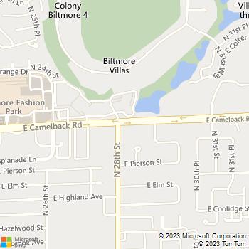 Map - Premier Pain Solution - 2813 E. Camelback Rd. - Phoenix, AZ, 85016