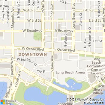 Map - Joshua Rooter & Plumbing - 3241 North Oak Lane - Long Beach, CA, 90807
