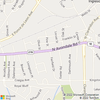 Map - Avondale Vet Hospital - 6 N Avondale Rd - Avondale Estates, GA, 30002
