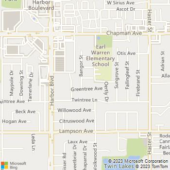 Map - EZ Plumbing Service - 12252 Bangor Street - Garden Grove, CA, 92840