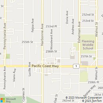 Map - Wesco Electric - PO Box 790 - Lomita, CA, 90717