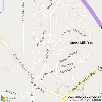 Map - Hampton Village - 1900 Tree Mountain Pkwy - Stone Mountain, GA, 30083