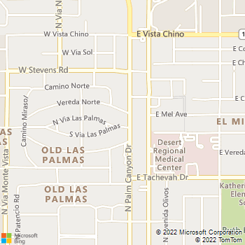 Map - Abbott Electric, Inc. - 1301 North Palm Canyon Drive, - Palm Springs, CA, 92262