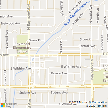 Map - SewerTV Inc. - PO Box 4197 - Fullerton, CA, 92834