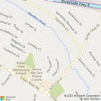 Map - R P B Delta Plumbing - 2720 Camellia Court - Corona, CA, 92882