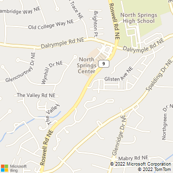 Map - Lightning Auto Glass Sandy Springs - 7475 Roswell Road - Atlanta, GA, 30328