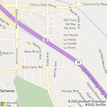 Map - Flying Dutchman Electric - 15210 Murray Avenue - Chino Hills, CA, 91709