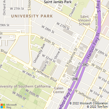Map - Verona Apartments - 3029 Shrine Place - Los Angeles, CA, 90007
