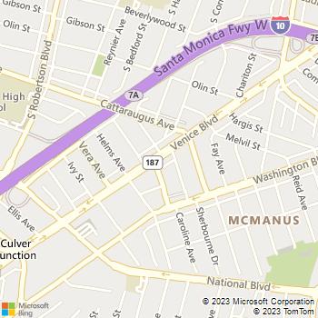 Map - Century Veterinary Group - 8750 Venice Blvd - Los Angeles, CA, 90034