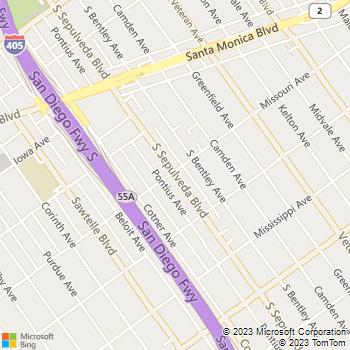 Map - VCA Animal Hospital - 1900 S Sepulveda Blvd - Los Angeles, CA, 90025