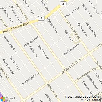 Map - Hertz - 2021 WESTWOOD BLVD - Los Angeles, CA, 90025