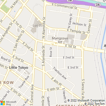 Map - Artisan on 2nd - 601 E 2nd St - Los Angeles, CA, 90012