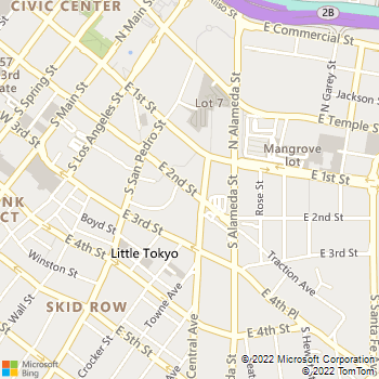 Map - Hikari - 375 E 2nd St - Los Angeles, CA, 90012