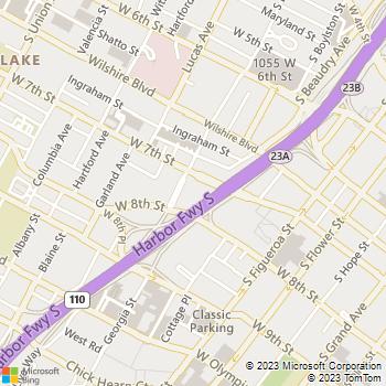 Map - The Medici - 722 Bixel St - Los Angeles, CA, 90017