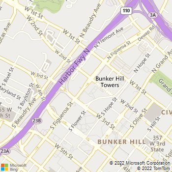 Map - Bunker Hill Towers - 234 S Figueroa St - Los Angeles, CA, 90012