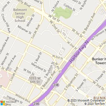 Map - Visconti - 1221 W Third St - Los Angeles, CA, 90017