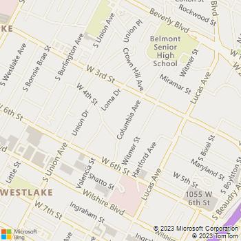Map - Tuscani Villas - 369 Columbia Ave - Los Angeles, CA, 90017