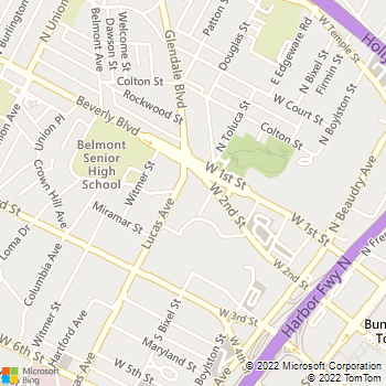 Map - Belmont Station - 1304 W 2nd St - Los Angeles, CA, 90026