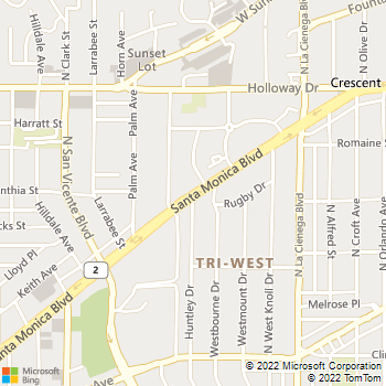Map - VCA Los Angeles Vet - 8723 Santa Monica Boulevard - West Hollywood, CA, 90069