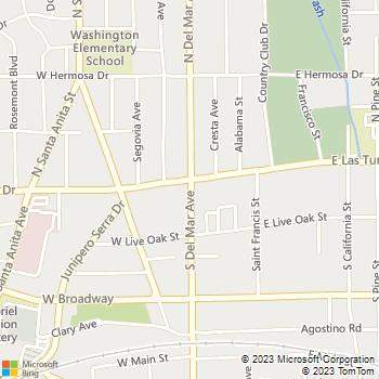 Map - Phillip Electric - PO Box 2222 - San Gabriel, CA, 91778
