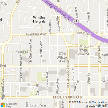 Map - VIDA Hollywood Apartments - 1745 Wilcox Ave - Los Angeles, CA, 90028