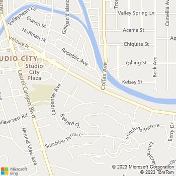 Map - Animal Emergency Centre - 11730 Ventra Blvd - Studio City, CA, 91604