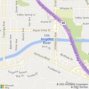 Map - Studio City Midrise - 4176 Arch Dr - Studio City, CA, 91604