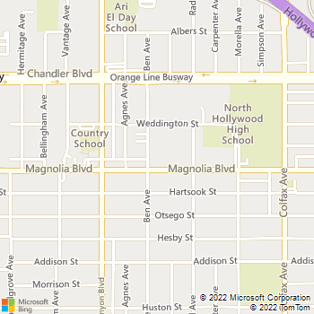 Map - Allegro - 11945 Magnolia Blvd - Valley Village, CA, 91607