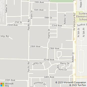 Map - Best in the West Plumbing - PO Box 1855 - Port Hueneme, CA, 93044