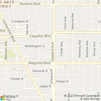 Map - Muse - 5251 Vineland Ave - North Hollywood, CA, 91601