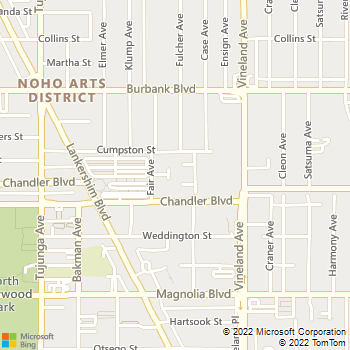 Map - The Gallery @ Noho Commons - 5416 Fair Avenue - North Hollywood, CA, 91601